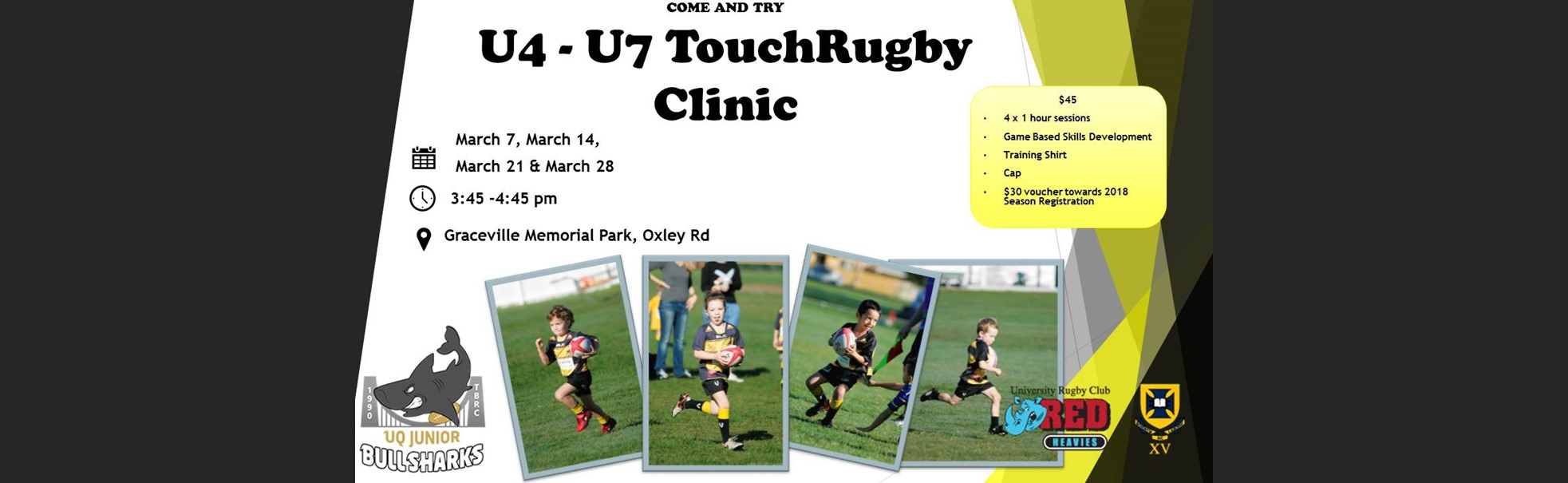TB Try Touch Rugby Web Banner